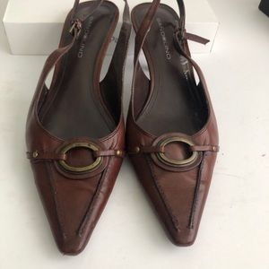 Bandolino- Women's brown leather pumps - 8 Med
